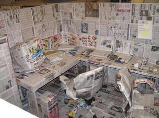 Newspaper-office